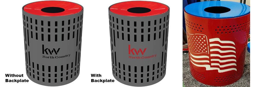 Custom Thermoplastic Trash Receptacles
