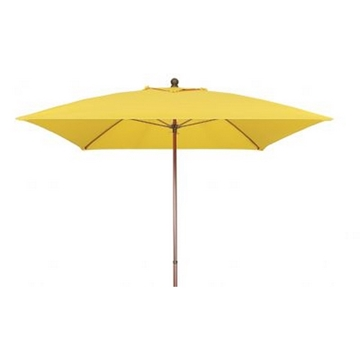 Fiberbuilt Market Umbrella 6 Ft. Square with One Piece Powder Coated Pole