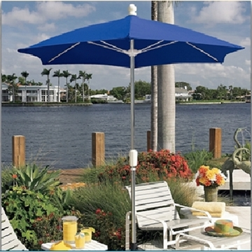 Fiberbuilt Patio Umbrella 9 Foot Hexagon with Two Piece Aluminum Pole