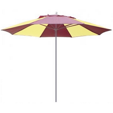 Fiberbuilt Market Umbrella 9 Foot Octagon with Two Piece Powder Coated Pole