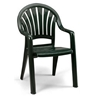 Pacific Fan Back Plastic Resin Stacking Armchair