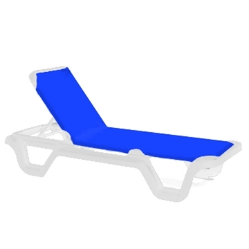 Marina Plastic Resin Sling Stack-able Chaise Lounge