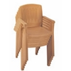 Atlantic Classic Plastic Resin Stacking Armchair