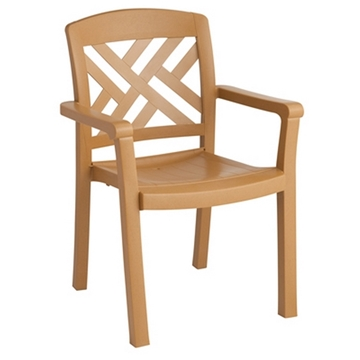Picture of Sanibel Plastic Resin  Stacking Dining Armchair