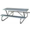 Aluminum 8 Ft. Rectangular Picnic Table with Bolted 1 5/8 In. Galvanized Tube