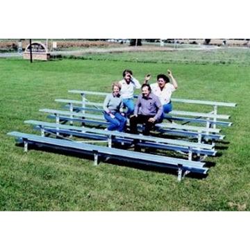 5 Row Bleachers 27 Ft. Aluminum with Aluminum Frame