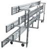 Tip and Roll 3 Row Bleachers 27 Ft. Aluminum