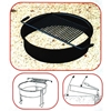 Fire Ring 300 Square In. Steel, Tilt Back In-Ground Mount