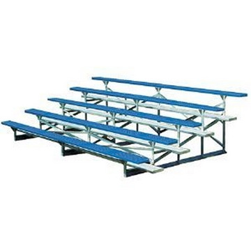 5 Row Bleachers 15 Foot Powder Coated with Galvanized Steel Frame