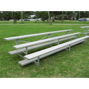 Low Rise 3 Row Bleachers 15 Foot Aluminum with Aluminum Frame
