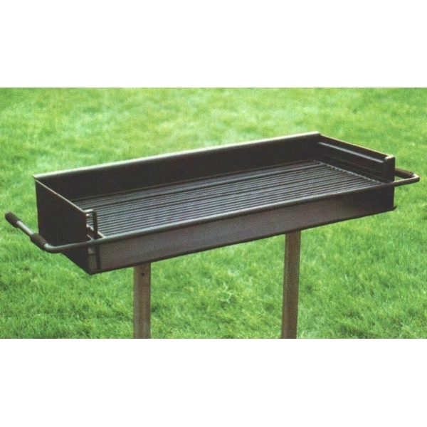 Group Grill 860 Square In. Welded Steel with two Galvanized 2 3/8 In. Pedestals