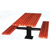 Rectangular Picnic Table 6 Ft. Recycled Plastic with Single Post Frame