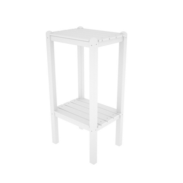 Picture of Polywood Two Shelf Bar Height Side Table Recycled Plastic