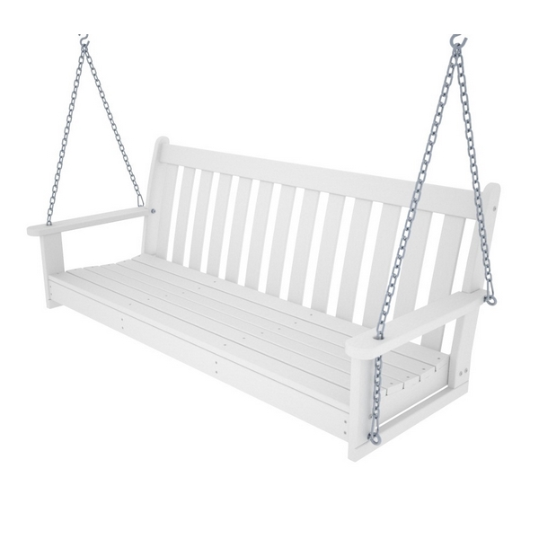 Picture of Polywood Vineyard 60 In. Porch Swing Recycled Plastic, Includes Swing Chain Kit