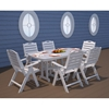 Picture of Polywood Nautical High Back Folding Dining Chair Recycled Plastic