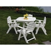 Picture of Polywood Nautical Lowback Folding Chair Recycled Plastic