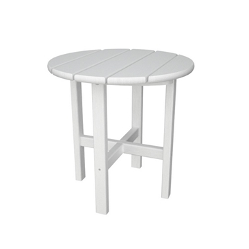 Picture of Polywood Round Side Table 18 In. Recycled Plastic Swimming Pool Side Tables