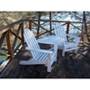 Polywood Adirondack Chair Tete-a-Tete Recycled Plastic