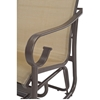 Tradewinds Sling Chaise Lounge with Arms, Fabric Sling with Aluminum Frame