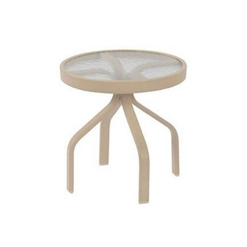 "Round Pool Side Tables, 18"" Acrylic Top with Aluminum Frame"
