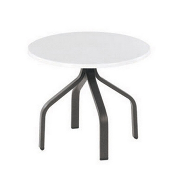 "Picture of Round Pool Side Table 18"" Fiberglass Top with Aluminum Frame"