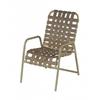 St. Maarten Cross Weave Vinyl Strap Dining Chair with Aluminum Frame