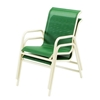 Picture of Neptune Commercial Sling Dining Chair Commercial Pool Furniture with Aluminum Bolt-Thru Frames.