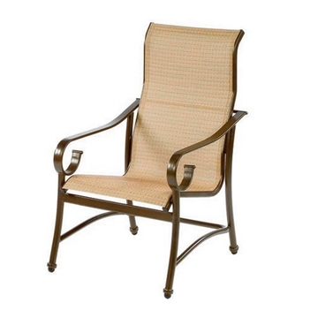 Tradewinds High Back Dining Chair Fabric Sling with Aluminum Frame