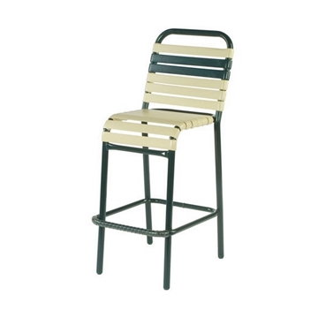 Neptune Vinyl Strap Outdoor Bar Stool made with Aluminum Frame