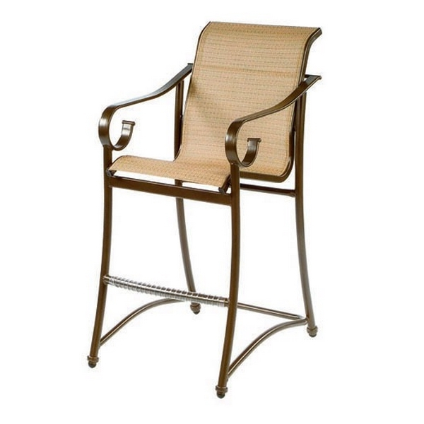 Tradewinds Sling Bar Chair, Fabric Sling with Aluminum Frame