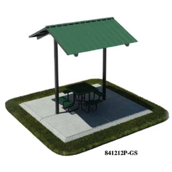 Picture of 12x12 Ft. All-Steel Mini Shelter, Inground Mount
