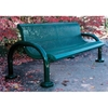 Picture of Bench With Back 6 Ft. Plastic Coated Expanded Metal with 2 7/8 In. Bent Frame, Portable/Surface Mount or In-Ground Mount