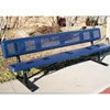 Picture of Bench With Back 6 Ft. Plastic Coated Perforated with 2 3/8 In. Galvanized Steel, Portable