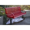 Picture of Bench With Back 6 Ft. Plastic Coated Expanded Metal with 2 7/8 In. Galvanized Steel, In-Ground Mount