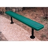 Picture of Bench Without Back 8 Ft. Plastic Coated 10 Gauge Punched Steel with 2 3/8'. Galvanized Steel, Surface Mount