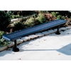 Picture of Bench Without Back 8 Foot Plastic Coated Expanded Metal with Welded Angle Iron, Surface Mount