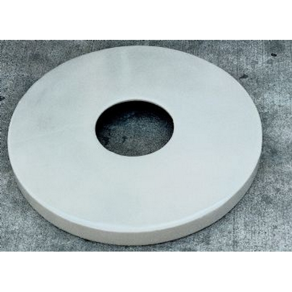 Picture of Flat Top  Lid for 22 Gallon Trash Receptacle Plastic Coated Metal
