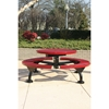 Picture of Round Picnic Table 46 In. Attached Seats Plastic Coated  Expanded Metal with Bolted 2 7/8 In. Galvanized Steel, Portable or Surface Mount