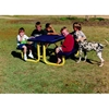 Picture of Child's Rectangular Children's Picnic Tables 6 Ft. Attached Seats Plastic Coated Expanded Metal with Welded 2 3/8 In. Galvanized Steel, Portable