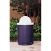 Picture of Perforated Trash Receptacle 32 Gallon Plastic Coated Perforated Steel Includes Liner and Dome Top