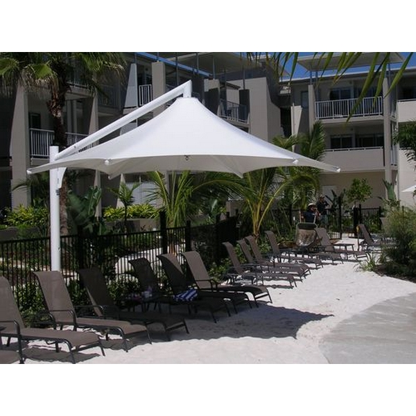 Picture of Skyspan 18 Ft. Hexagon Cantilever Umbrella PVC Coated Polyester with Steel Frame