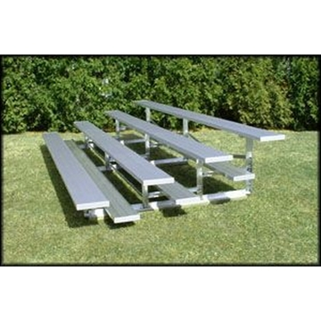 Low Rise 4 Row Bleachers 27 Foot Aluminum with Aluminum Frame
