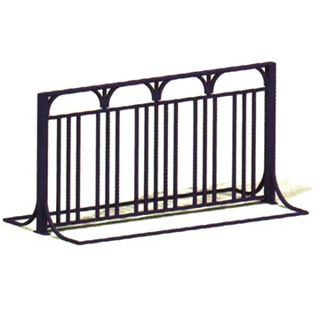 10 Space Bicycle Rack 6 foot Powder Coated Steel