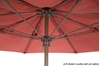 Fiberbuilt Market Umbrella 7 1/2 Foot Octagon with Two Piece Powder Coated Pole