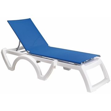 Calypso Plastic Resin Sling Chaise Lounge