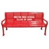 6 Ft. Custom Logo School Benches Roll Formed Contour Bench Plastic Coated Perforated Metal