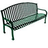 Custom Logo Roll Formed Diamond Contour Bench 6 foot Plastic Coated Steel