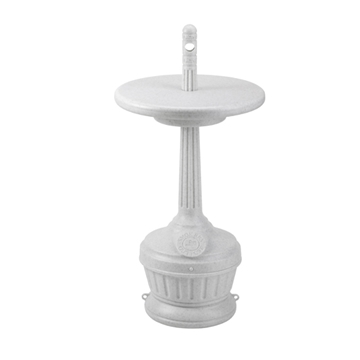 Picture of Smokers Outpost with Table Outdoor Cigarette Ashtray Round, 5 Qt. Plastic, Portable