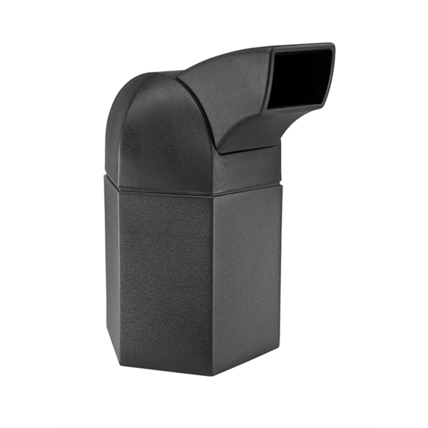 Picture of Trash Receptacle Hexagon 45 Gallon Plastic with Drive-Tru Top, Portable