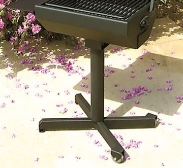 Portable Castor Grill Base for Covered Grill